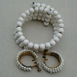 Vintage set of bracelet and earrings clip on